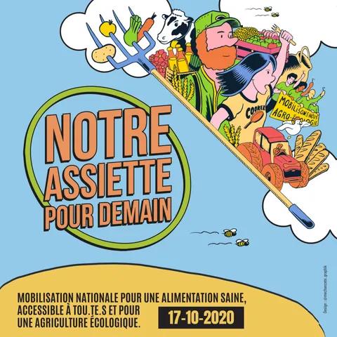 """Mobilisation """"Notre assiette pour demain"""""""