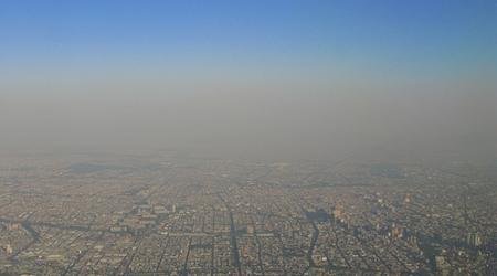 Illustration ville vue aérienne et pollution