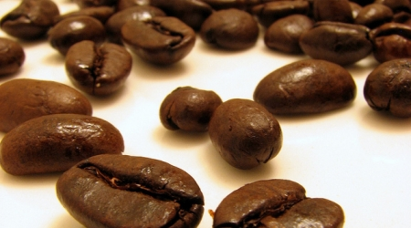 Photo de grains de café